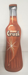 ORANGE CRUSH BOTTLE - Beautiful wood cutout by Heidi Wolfe