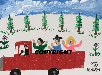 MINNIE DRIVING FAMILY TO TOWN in PICKUP - Was $75 - Now $60