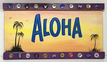 ALOHA - PARTY SIGN by George - the OLD Sign Painter