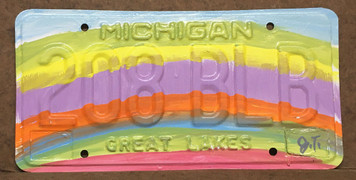 RAINBOW - LICENSE PLATE by John Taylor