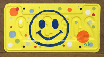 SMILEY  LICENSE PLATE by John Taylor