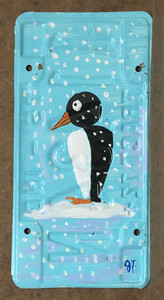 PENGUIN LICENSE PLATE by John Taylor