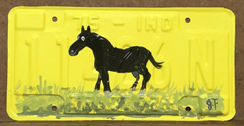 HORSE LICENSE PLATE by John Taylor