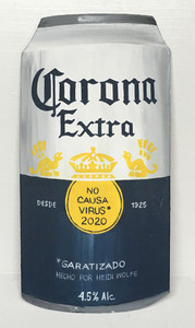 CORONA EXTRA Wooden BEER CAN by Heidi Wolfe