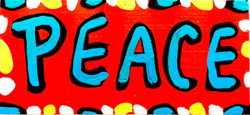 PEACE - COLORFUL SIGN BY BEBO