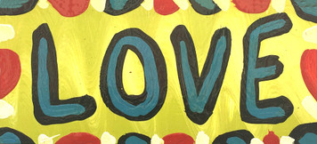 LOVE - COLORFUL SIGN BY BEBO