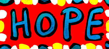 """COLORFUL """"HOPE"""" SIGN BY BEBO"""
