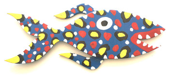 BIG BLUE FISH - HEAVY CUT-OUT BY BEBO