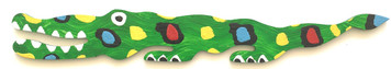 """26"""" GREEN GATOR CUT-OUT BY BEBO"""