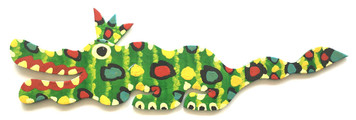 CUT-OUT GATOR - 3 FOOT LONG - BY BEBO