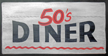 50's Diner Old time Sign - by George Borum