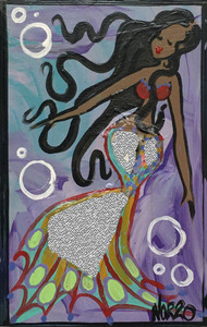 BRUNETTE MERMAID w/ Mirror - by Nina O'Reilly  - Was $30 - SAVE $15