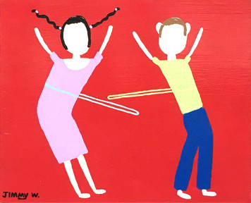 WHITE BOY & GIRL HULA HOOPING by Jimmy W