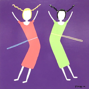 TWO GIRLS HULA HOOPING -- BY JIMMY W