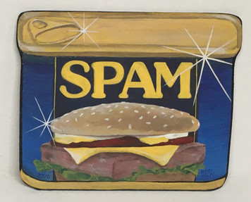 COLORFUL SPAM CAN by Heidi Wolfe