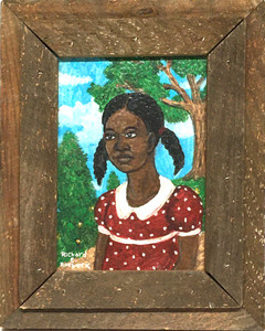 GIRL in RED DRESS  - HEAVY WOOD FRAME
