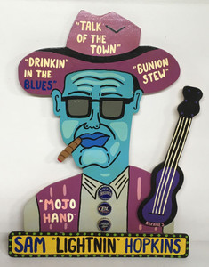"SAM ""LIGHTNIN"" HOPKINS cutout by Roxane J"