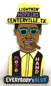 LIGHTNIN HOPKINS - cutout - by Roxane J