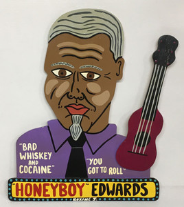 HONEYBOY EDWARDS - Cutout by Roxane J