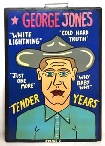 GEORGE JONES PAINTING by Roxane J