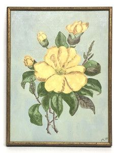 FLOWERS on Canvas Panel - Framed by Myrtice West