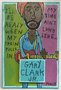 GARY CLARK JR Painting by Ken Pease