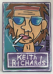 KEITH RICHARDS PAINTING by Ken Pease