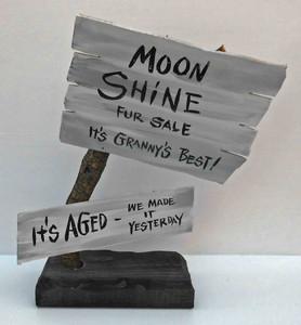 Rustic Granny's Best Moonshine Signpost by Poor Ol' George aka George Borum