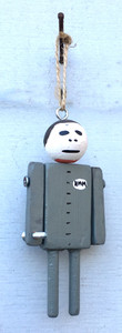 MIKE - ROBOT - ORNAMENT with movable arms - by Tony Dotson
