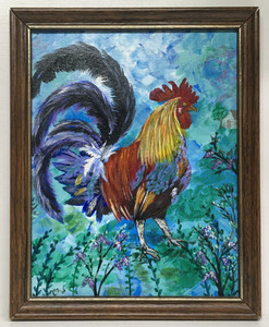 """BLUE SKY ROOSTER"" by Connie Wallace"