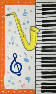 SAXOPHONE & PIANO PAINTING by John Taylor