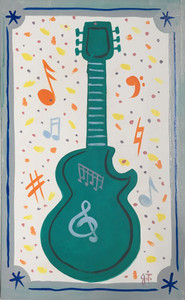 GUITAR PAINTING by John Taylor