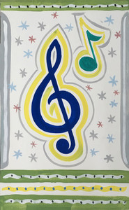MUSIC NOTES PAINTING by John Taylor