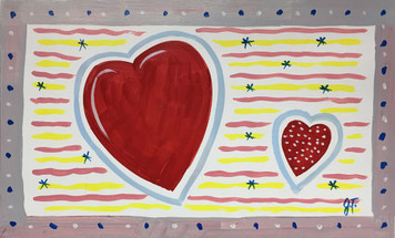 HEARTS PAINTING by John Taylor