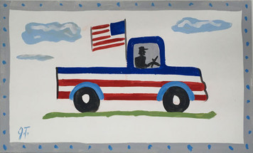 PATRIOTIC PICK UP TRUCK by John Taylor