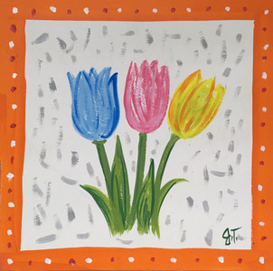 TULIPS COLORFUL PAINTING by John Taylor