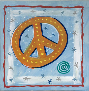 PEACE SIGN - Colorful Painting by John Taylor