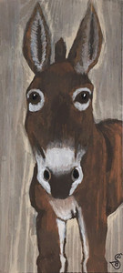 MULE (DONKEY) on Found Board by Sharon Boggs