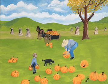 PUMPKIN GATHERING by Sharon Boggs