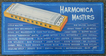 Harmonica Harp Blues Music Masters 3-D Plaque by George Borum