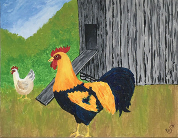 ROOSTER by the Shed by Sharon Boggs