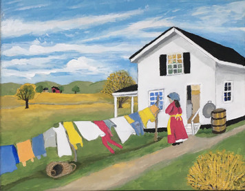 WASHER WOMAN - Hanging Clothes by Sharon Boggs