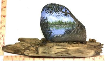 LAKE SCENE - TREE & OWL By Martha Winenger - NOW $100