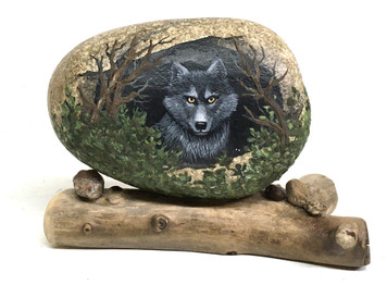 WOLF IN A CAVE - by Martha Winenger - NOW $75