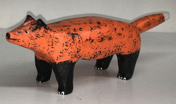 RED FOX CARVING by Jim Lewis