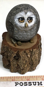 LONE OWL on Sassafras Stump - by Martha Winenger