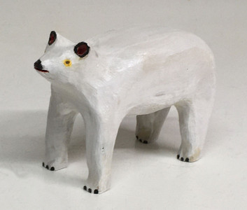 CARVED BASSWOOD POLAR BEAR ---  by Jim Lewis