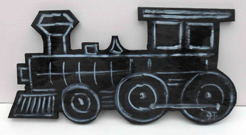 Wood Train Cut-Out by John Taylor -