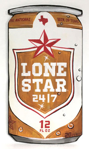 LONE STAR TEXAS FAVORITE BEER by Heidi Wolfe