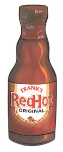 FRANKS RED HOT SAUCE BOTTLE by Heidi Wolfe